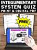 FREE Download Integumentary System Human Body Unit Activit