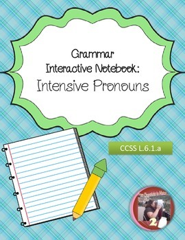 Intensive Pronouns Interactive Notebook Foldables and Resources