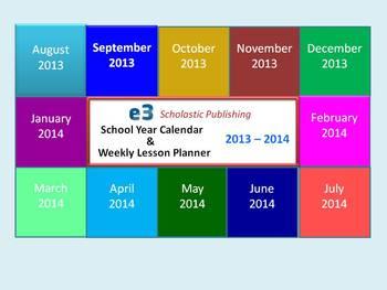 Interactive 2013 - 2014 School-Year Calendar & Weekly Less