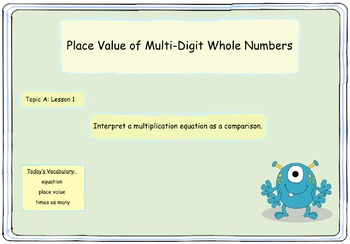 Interactive:  4th Grade Engage NY - Module 1 -  Topic A -