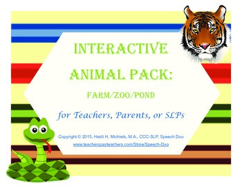 Interactive ANIMALS Books and Thematic Concept Activities