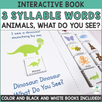 Interactive Adapted Books - Multisyllabic Words - 3 Syllab
