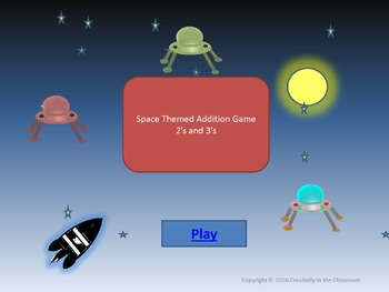 Interactive Addition Game for Practicing  2+2 up to 3+9