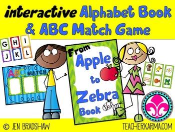 Interactive Alphabet ~ ABC Game ~ Letter Sounds ~ Apple to Zebra
