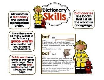 Interactive Anchor Charts - Dictionary Skills