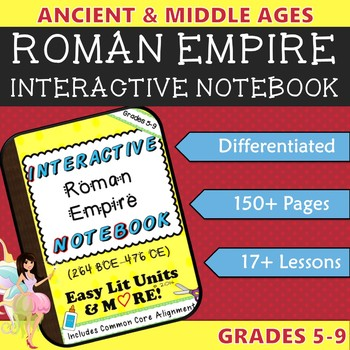 Interactive Notebook for the Roman Empire (Ancient Rome) ~