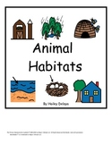 Interactive Animal Habitat Book for Kids with Autism and E