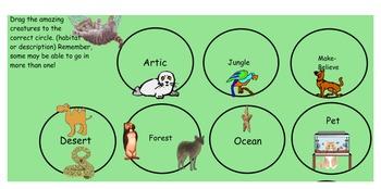 Interactive Animal Habitat Match