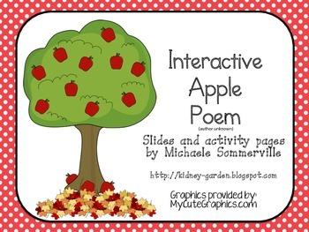 Interactive Apple Poem Slides & Activity Pages