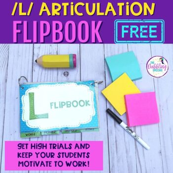 Interactive Articulation Flip Books For L- FREE Resource w