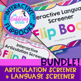 Articulation & Language Screener For Elementary- Interacti
