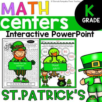 Interactive Board St. Patrick's Day Math for Kindergarten