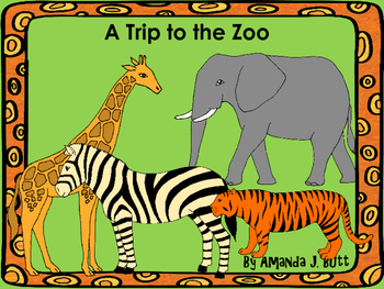 Interactive Book: A Trip to the Zoo; Special Education; Au
