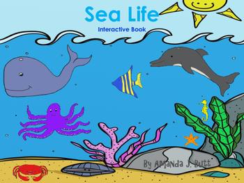 Interactive Book: Ocean Sea Life; Special Education; Autis