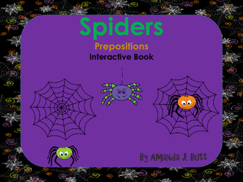 Interactive Book: Prepositions; Where is the Spider? Speci