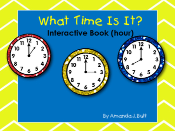 Interactive Book: What Time is it?(HOUR) Autism; Special E