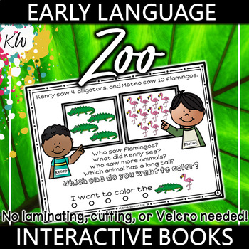 Interactive Book for Early Language Skills - Zoo
