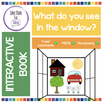 Interactive Book for 'I see' PECS comments - What do you s