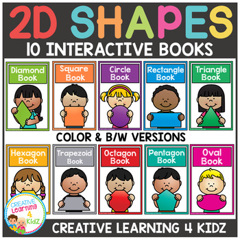 2D Shapes Interactive Book Bundle