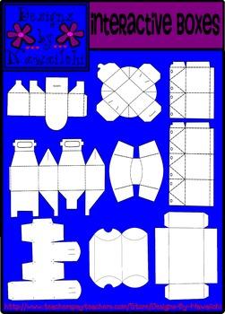 Interactive Boxes Foldable Templates - Set 1