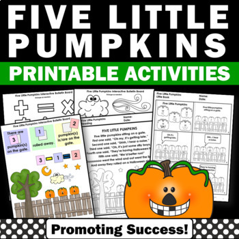 five little pumpkins sitting on a gate Halloween activities for kids
