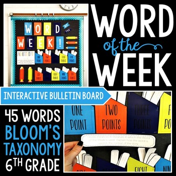 Interactive Bulletin Board NEON THEME: Word of the Week fo