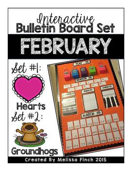 Interactive Bulletin Board Set- February