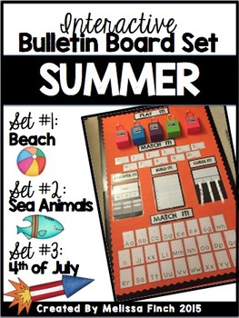 Interactive Bulletin Board Set- SUMMER