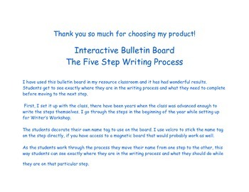 Interactive Bulletin Board for the Writing Process