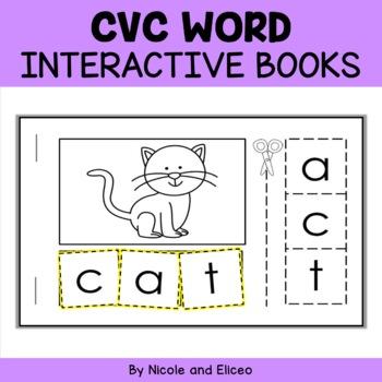 Interactive CVC Word Activity Book