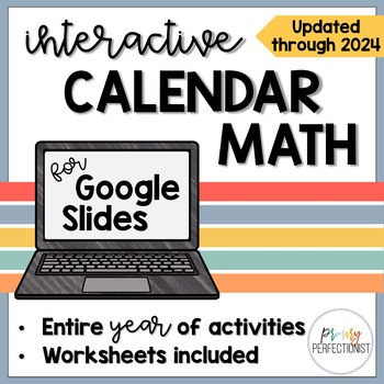 Calendar Math for the SmartBoard - FULL YEAR of Common Core Skills by Primary Perfectionist
