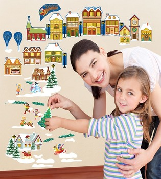 Interactive Christmas Village Wall Play Set