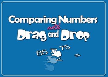 Interactive Comparing Numbers w/Drag & Drop (1.NBT.3.B)