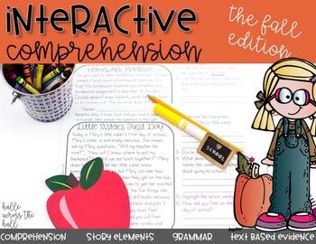 Interactive Comprehension {Fall}