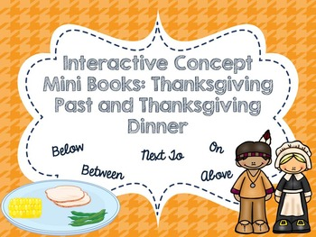 Interactive Concept  Mini Books: Thanksgiving Past and Tha