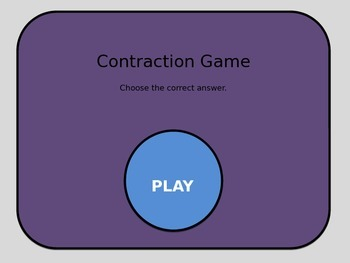 Interactive Contraction Game PowerPoint