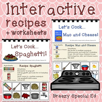 Interactive Cooking Lessons / Visual Recipes: Spaghetti +