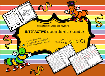 TRY ME for FREE! Interactive Decodable Reader/Printable Bo