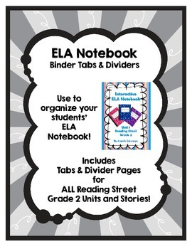 Interactive ELA Notebook Dividers & Tabs