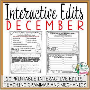 Interactive Edits: December