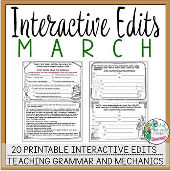 Interactive Edits: March