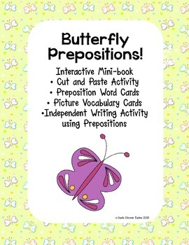 Interactive Emergent Reader,Where is the Butterfly? Prepos