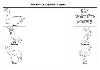 Interactive Flip Book of Australian Animals