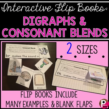 Interactive Flip Books: Consonant Blends and Digraphs
