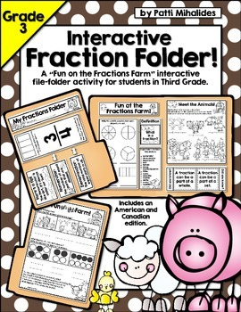 Interactive Fractions Folder for Third Grade