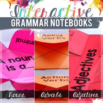 Nouns Interactive Grammar Notebook Freebie