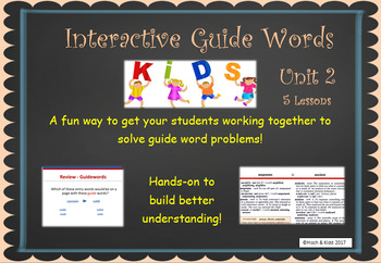 Interactive Guide Words - Unit 2 - 5 Lessons