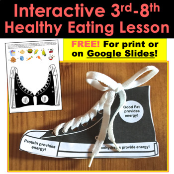 Interactive Lesson FREE!: Healthy Eating Tennis Shoe For A