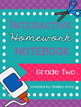 Interactive Homework Notebook {Grade 2}