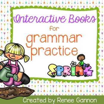 Interactive Grammar Books - Spring Themed
